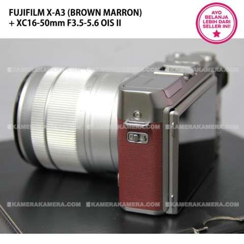 FUJIFILM X-A3 BROWN MARRON + XC16-50mm F3.5-5.6 OIS II + SanDisk 16GB + Screen Guard + Filter 58mm + Camera Bag + Takara ECO193A 3