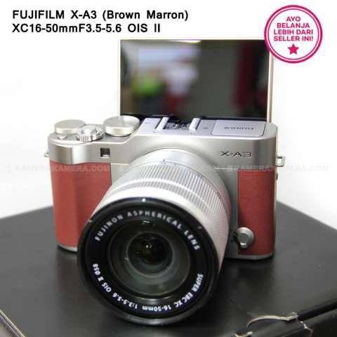 FUJIFILM X-A3 BROWN MARRON + XC16-50mm F3.5-5.6 OIS II + SanDisk 16GB + Screen Guard + Filter 58mm + Camera Bag + Takara ECO193A 5