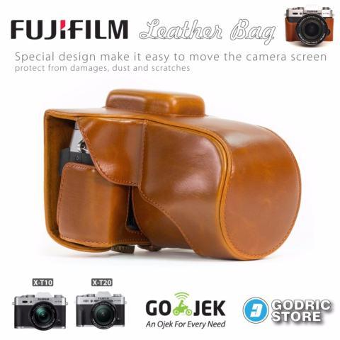 Fujifilm X-T10 / XT10 / X-T20 / XT20 Leather Bag / Case / Tas Kamera - Coklat Muda