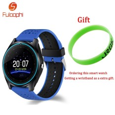 Fuloophi V9 Bluetooth Smart Watch With Camera Smartwatch Pedometer Health Sport Clock Hours Men Women WristWatch For Android - intl