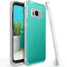 Galaxy S8 Case, Scottii [Luxurii Gem] Slim Samsung S8 Shockproof Bumper Case-Dual Layer Glitter Pola Permata Case untuk Galaxy S8 (Emerald Green)