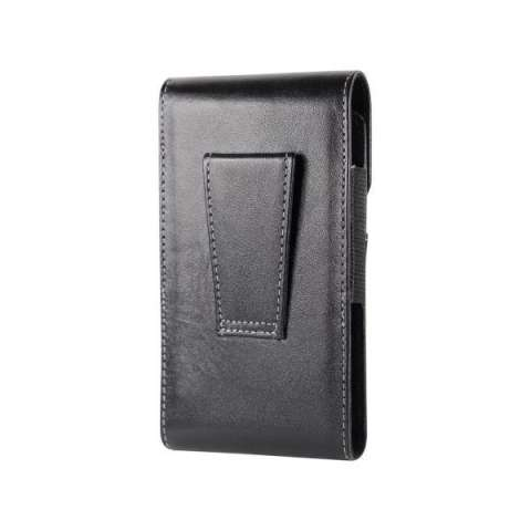 Galeno Original Leather Vertical Pouch (Sarung Kulit) Single Sleeve Cover  with Belt Clip Universal 80017da2ce