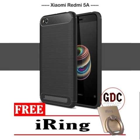 ... 4x Free Iring Source · GDC iPaky Carbon Fiber Shockproof Hybrid Back Case Xiaomi Redmi 5A Original Free Iring