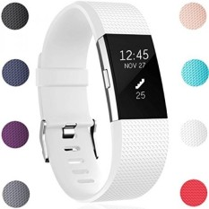 GEAK Replacement Bands for Fitbit Charge 2, Fitbit Charge2 Wristbands, White - intl
