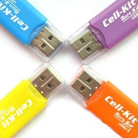 Getek USB 2.0 Mikro Disebut TF SD T Flash Memori Pembaca Kartu For Adaptor 32 GB