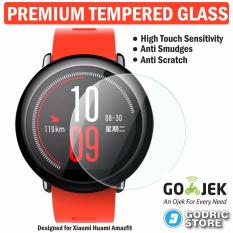 Godric Xiaomi Huami Amazfit Premium Tempered Glass Screen Protector Anti Gores Guard Smartwatch