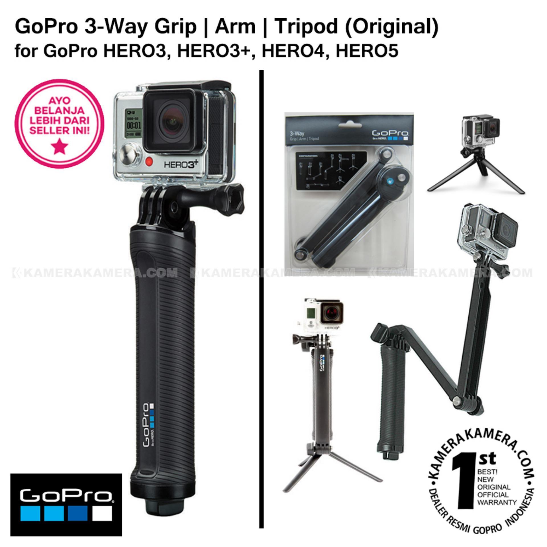 GoPro 3 Way Grip Arm Tripod 3-in-1 Mount AFAEM-001 ( Tongsis Grade A Monopod ...