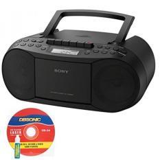 GPL/Sony CD/Kaset BOOMBOX, Digital Tuner Radio AM/FM, headphone Output & 3.5mm Audio Auxiliary Bundle dengan Kabel Listrik AC dan CD Lens Cleaner/dikirim dari USA -Intl