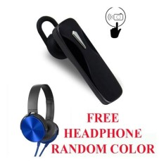 Handsfree Bluetooth Free Headphone Bando For Vivo Y51 / Y55 / Y67 - Hitam