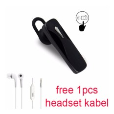 Handsfree Bluetooth + Headset kabel For Zenfone 2 Laser (ZE 551 KL) - Hitam