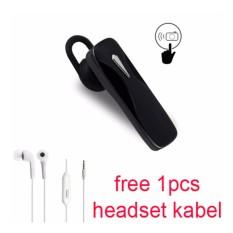 Handsfree Bluetooth + Headset kabel For Zenfone Asus 3 Laser (ZC 551 KL) - Hitam