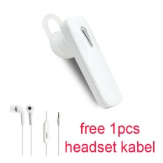 Handsfree Bluetooth + Hedset Kabel For Samsung Galaxy Grand Prime Plus - Putih