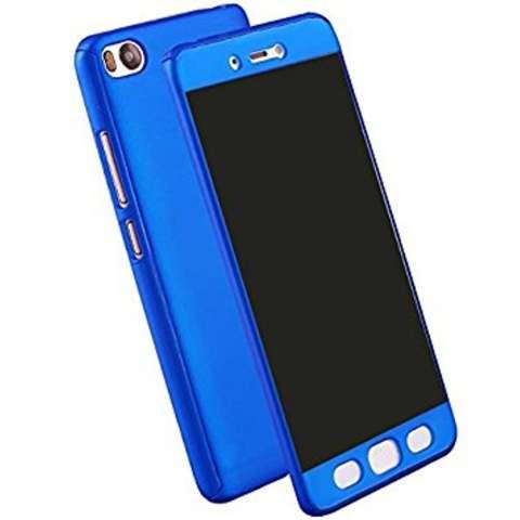 Hardcase Case 360 Xiaomi Redmi 4X Fullset Casing Free Tempered Glass - BLUE