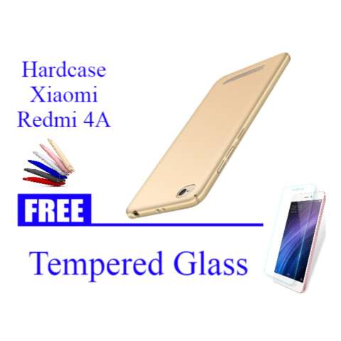 Hardcase Casing Cover Hp Xiaomi Redmi 4A ABS FREE Tempered Glass - ABS