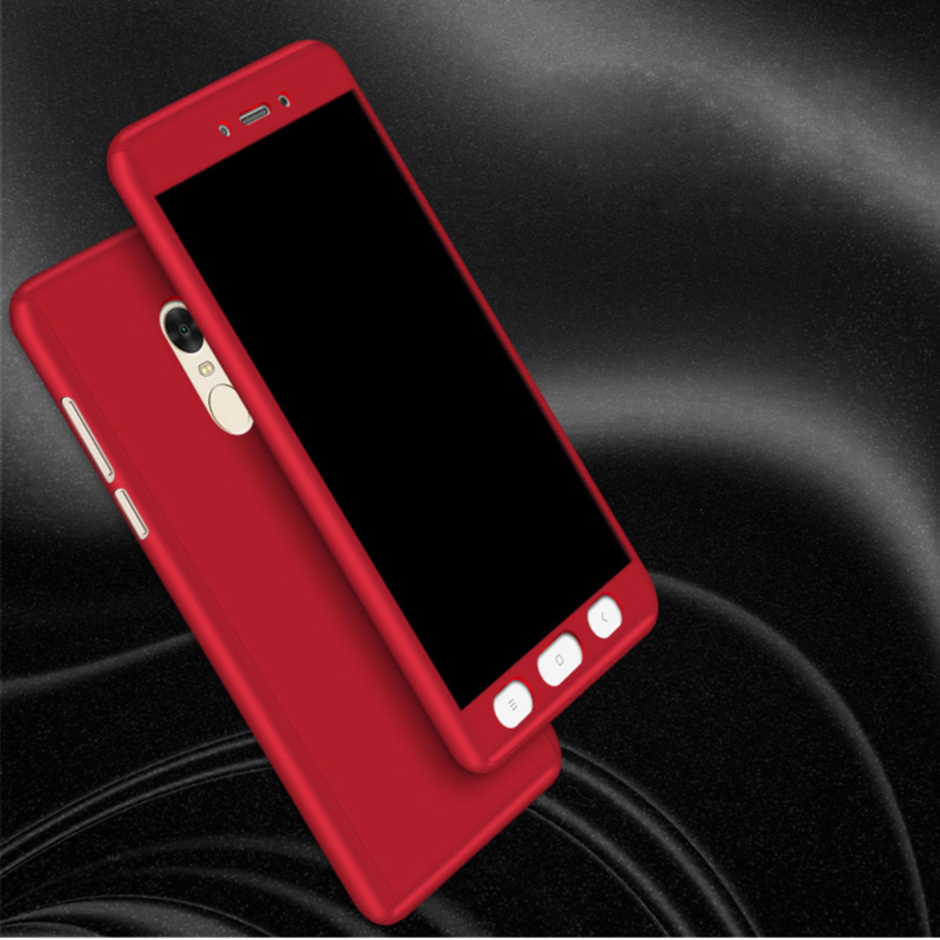 TERBAIK Hardcase Casing Full Body 360 Free Tempered Glass Xiaomi Redmi Note 4 / 4X /