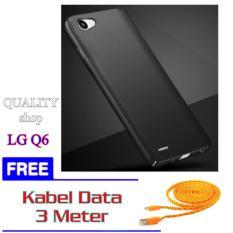 Hardcase For LG Q6 BLACK/BLUE/RED + FREE Kabel Data 3 Meter.