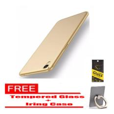 Hardcase Oppo Neo 9 A37 slim cover + Tempered Glass + Iring case