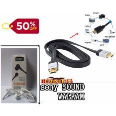 HDMI high Speed Cable  2 Meter untuk segala prangkat tv dan game (display. laptop. projector. HD TV ps3 dan xbox360. computer) + sony handsfree walkman sound