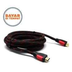 HDMI Male to Male Cable Kabel HDMI 3 Meter - Hitam/Merah