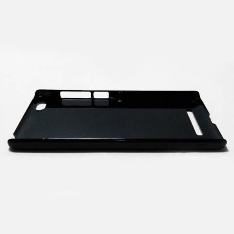 Heavencase Hard Case Xiaomi Mi4i / Mi4c Motif Kayu Chevron 30 Casing Cover - Hitam