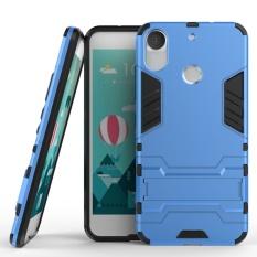 Tinggi Kualitas Armor 2 In 1 PC dan TPU Lembut Kantong Gas Stand Back Case Cover untuk HTC Desire 10 PRO Case Blue-Intl