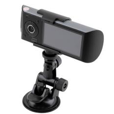 HKS HD Dual Kamera Mengemudi Perekam 2.7 LCD Dash-CAM CarDVRw/GPSLogger G-sensor-Intl