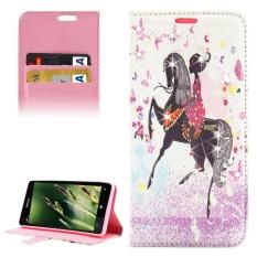 Horse Riding Girl Pola Berlian Bertatahkan Case Kulit Horisontal Flip dengan Pemegang dan Slot Kartu dan Dompet untuk Microsoft Lumia 850-Intl