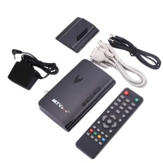 Hot Jual Aksesoris Teknologi Mini LCD LED CRT TV Box VGA AV TV DVD Program Digital Tuner Receiver Monitor US Plug-Intl