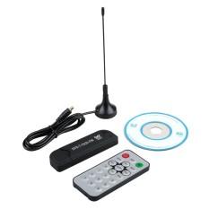 Hot Jual Aksesoris Teknologi USB R820T DVB-T RTL-SDR Realtek RTL2832U Digital HDTV Tuner Receiver Hitam-Intl