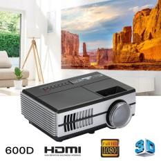 Hot Jual Aksesoris Teknologi Video Proyektor Mini Proyektor LED 3D Proyektor Premium Portable 7000 Lumens 600D Laptop Kantor-Intl