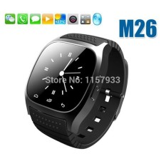 Hot Wholesale sport Smart Bluetooth Watch digital luxury M26 wristwatch men women with Dial Pedometer for Android Samsung phone - intl