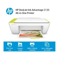 HP DeskJet Ink Advantage 2135 All-in-One Printer [ Print Scan Copy) - Baru Original