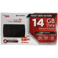 Huawei MIFI 4G LTE E5673 Bundling Telkomsel Free 14gb 60Hari - Hitam