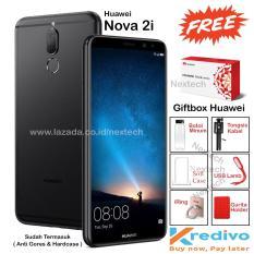 Huawei Nova 2i - 4GB / 64GB - Layar 5.9 inch - 4G / LTE - 4 Kamera - FREE GIFT BOX - Matte Black