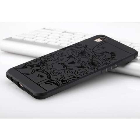 Hunter Case TPU Dragon Back Cover Silikon Original for Oppo F1 Plus / R9 - Black