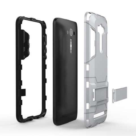 Hunter ProCase Kickstand Hybrid Armor Iron Man PC+TPU Back Cover Case for Asus Zenfone