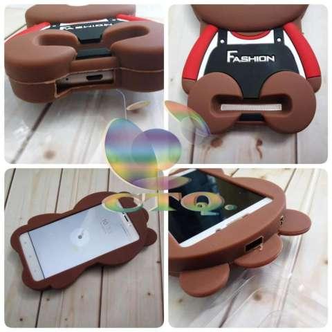 Icantiq Case 3D Samsung Galaxy J2 Prime Silicone 3D Brown Bear Clothes  Overall Design FASHION   aa0582ec1f