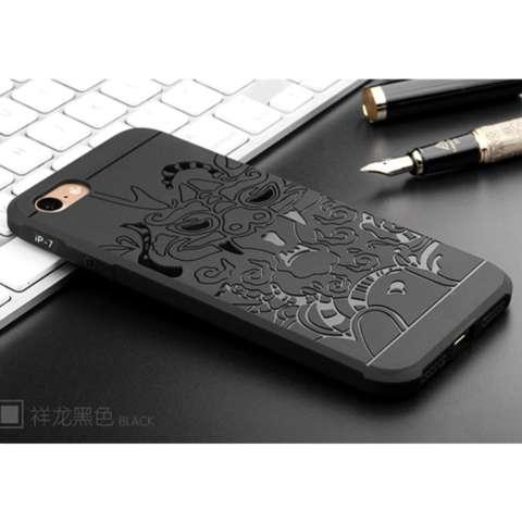 iCase Casing Handphone Apple iPhone 7 Cocose Dragon Softcase series - Hitam