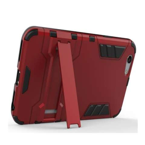 iCase Sniper Armor Dual Layered TPU+PC Hybrid Back Cover Phone Case with 360 Kickstand