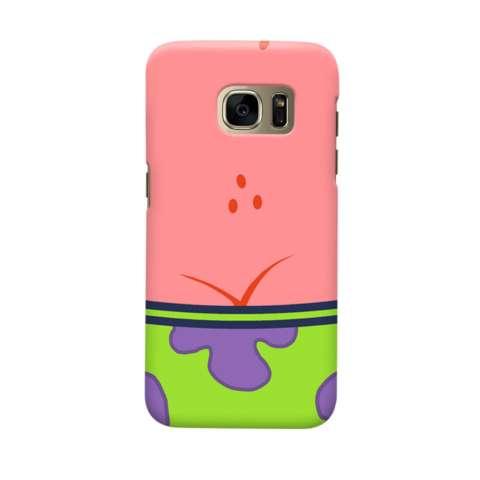 Indocustomcase Cartoon Patrick Star Casing Case Cover For Samsung Galaxy S6 Edge