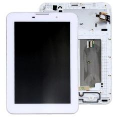 IPartsBuy LCD Tampilan + Layar Sentuh Digitizer Penggantian dengan Bingkai untuk Lenovo IdeaTab A3000 (Putih)-Intl