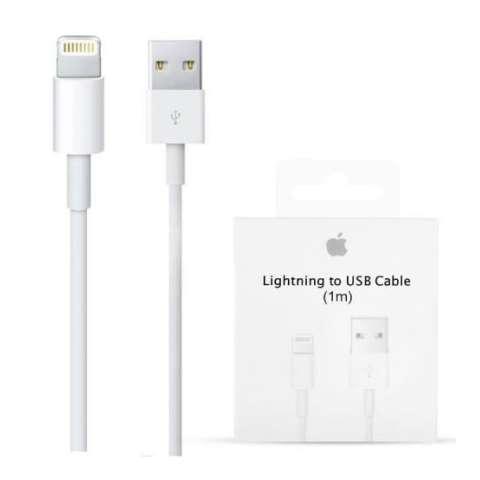 Iphone Kabel Data dan Charger Lightning USB Cable 5/5s/6/6s/6 plus - Putih