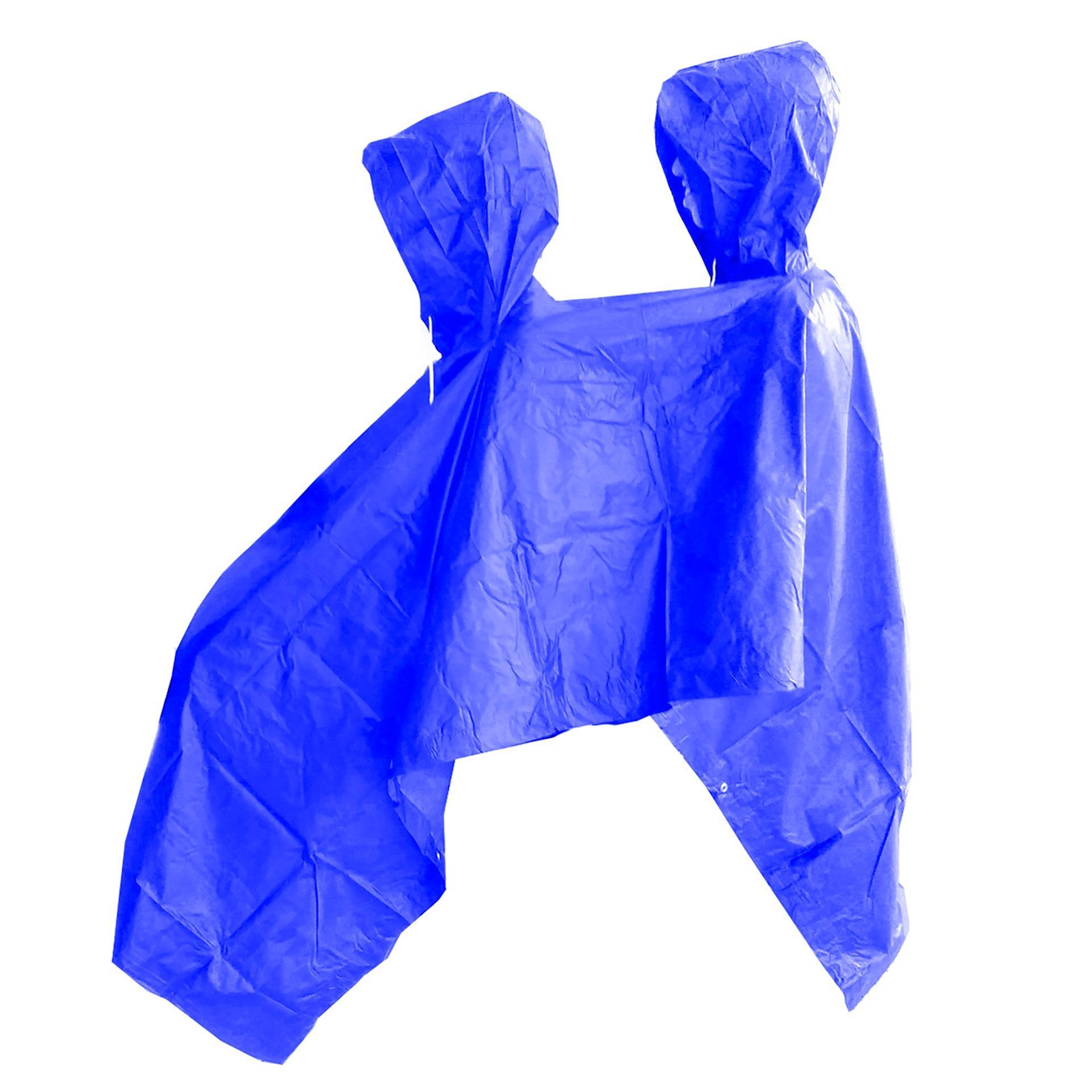 Jas Hujan Ponco 2 Kepala - Bahan Taslan Seperti Jashujan AXIO - Bukan Bahan Karet - Dijamin Tidak Mudah Sobek