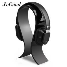 JvGood Acrylic Headphone Stand Gaming Headset Holder/Hanger Meja Display Stand, Ekstra Tebal-Hitam