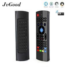 JvGood MX3 Multifungsi 2.4G Udara Mouse Mini Wireless Keyboard & Inframerah Remote Control & 3-Gyro + 3-Gsensor untuk Google Android TV/Box, IPTV, HTPC, Windows, MAC OS, PS3