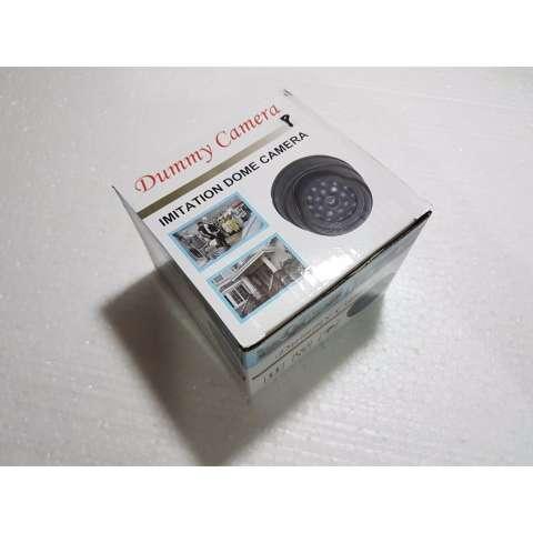 ... Kamera CCTV dummy palsu fake replika dome HITAM kedip merah 20 LED cocok untuk pengawasan rumah