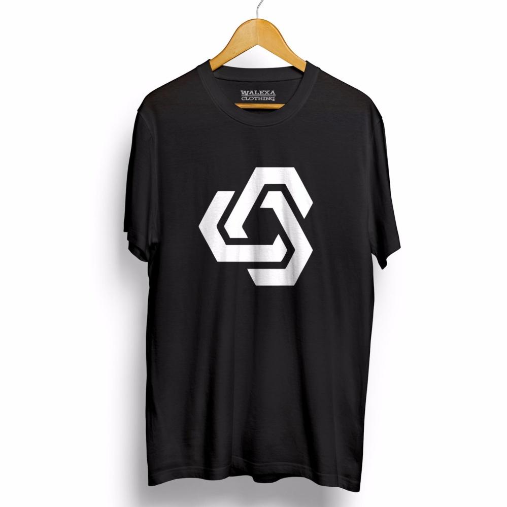 Kaos WALEXA Geo 3 - T-Shirt - Hitam