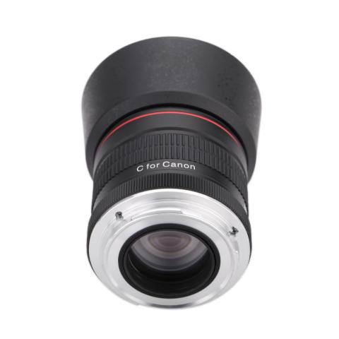 Kelda 85 mm f/1,8 fokus Manual potret lensa untuk Canon 80D 7D 70D 750D 760D 6D 60D 600D 50D 500D 550D 5D 5D2 5D3 450D EF gunung Digital SLR kamera 2
