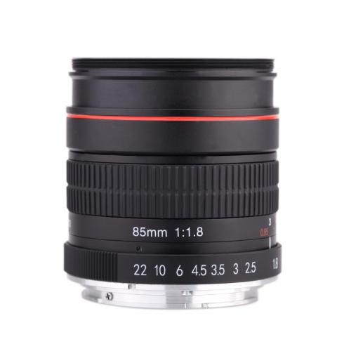 Kelda 85 mm f/1,8 fokus Manual potret lensa untuk Canon 80D 7D 70D 750D 760D 6D 60D 600D 50D 500D 550D 5D 5D2 5D3 450D EF gunung Digital SLR kamera 1