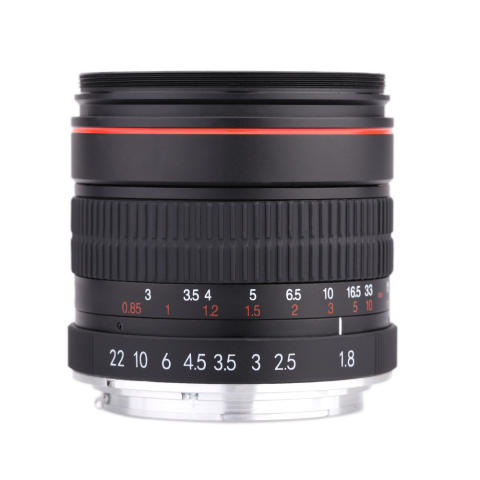 Kelda 85 mm f/1,8 fokus Manual potret lensa untuk Canon 80D 7D 70D 750D 760D 6D 60D 600D 50D 500D 550D 5D 5D2 5D3 450D EF gunung Digital SLR kamera 6